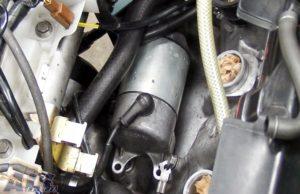 セルモーター 固定ボルト 取り外し後