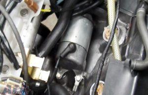 セルモーター 固定ボルト 位置確認