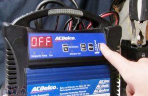 バッテリー 電源ボタン 押す