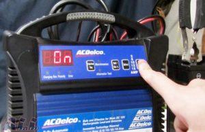 バッテリー 電源ボタン 押す2