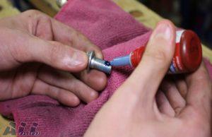 ステップバー固定ボルト ネジロック剤塗布