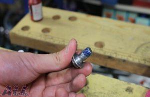 ステップバー 固定ボルト ネジロック剤塗布後