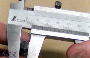 ノギスボルトサイズ計測
