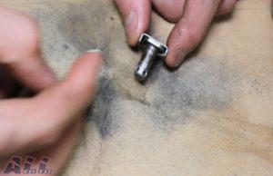 リアマスター ブレーキペダル可動部 固定ピン 万能グリス塗布