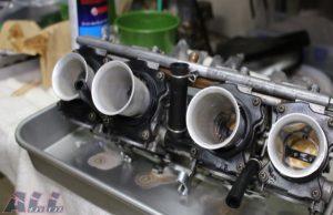 キャブクリーナー スロットルバルブ 吹く 全気筒2