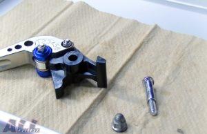 ブレーキレバー固定ボルト類清掃